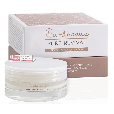REVITALIZING ANTI-AGING NIGHT CREAM with Snail Mucus and Caviar concentrate, Matryxil 3000